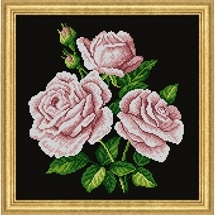 Pink Roses Needlepoint