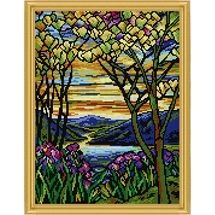 Landscape With Irises Needlepoint