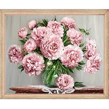 Garden Peonies Diamond Embroidery