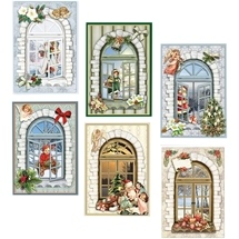 3D Decoupage Kit - Festive Window Cards