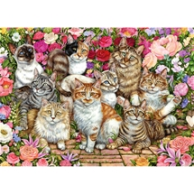 Floral Cats 1000 pc