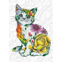 Flower Puss Diamond Dotz