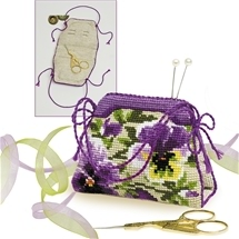Pansy Pincushion