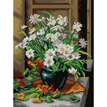 Vase Of White Flowers Tapestry Canvas