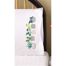 House Plants Pillowcase Pair