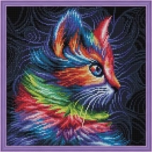 Colourful Kitten Diamond Painting