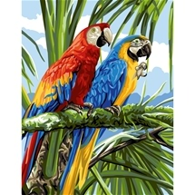Macaws Tapestry Canvas