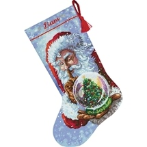 Santa & Snowglobe Stocking