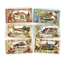 3D Card Kit - Autumn Flower Cottages
