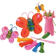 French Knitting Butterflies