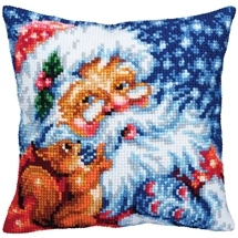 Santa & Squirrel Cushion