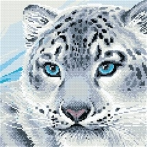 Snow Leopard Diamond Mosaic