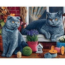British Shorthair Cats Diamond Painting