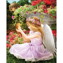Angel In The Garden Diamond Painting