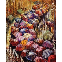 Autumn Umbrellas Diamond Painting