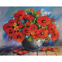 Red Bouquet Diamond Painting