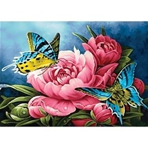 Butterflies & Peonies Diamond Painting