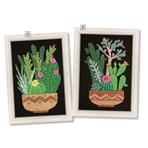 Embroidered Cacti