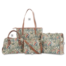 Golden Lily Tapestry Bags