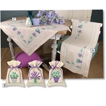 Lavendar Table Linen