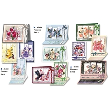Triptych 3D Flower Cards