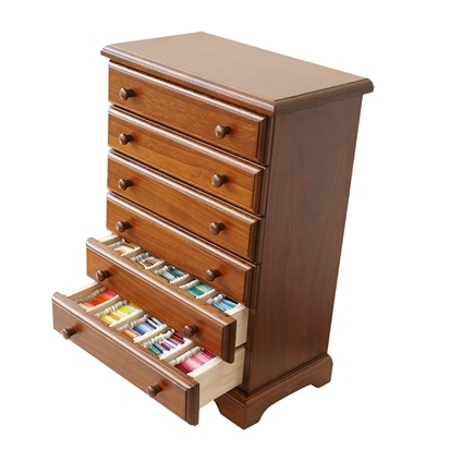 Crafter S 6 Drawer Wooden Thread Cabinet The Fox Collection